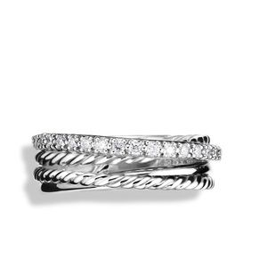 David Yurman Crossover Diamond Ring Size 6